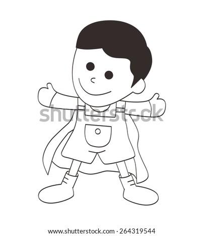 man cartoon - stock vector
