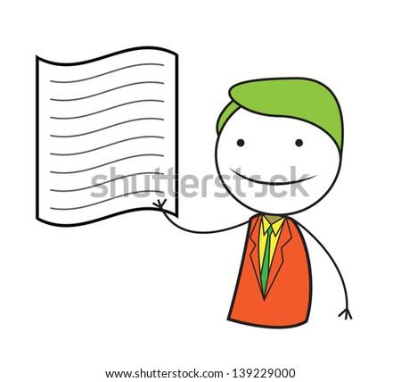 man contract - stock vector