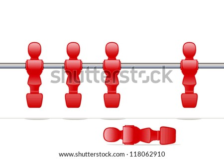 Man Down/Difficult Situtation/Foosball - stock vector