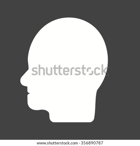 Man, face, hair icon vector image. Can also be used for healthcare and science. Suitable for use on web apps, mobile apps and print media.
