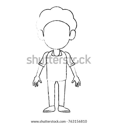 Set Diverse Avatars Without Facial Features Stock Vector