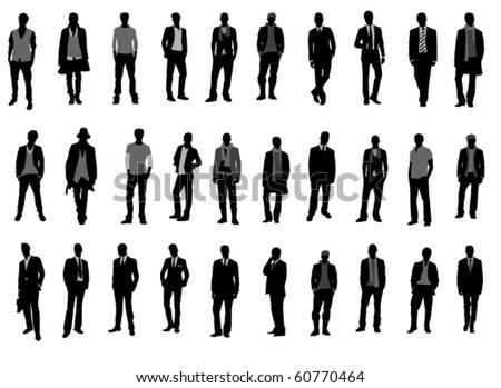 Man  fashion - stock vector