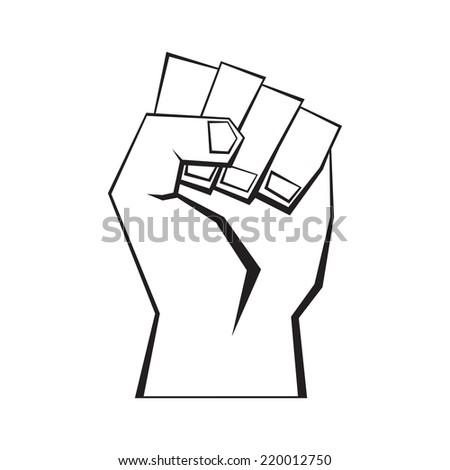 Man fist, vector format  - stock vector