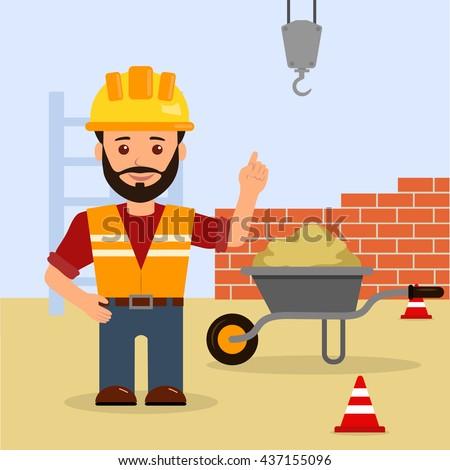 man foreman construction site construction building stock construction equipment clipart images Road Construction Equipment