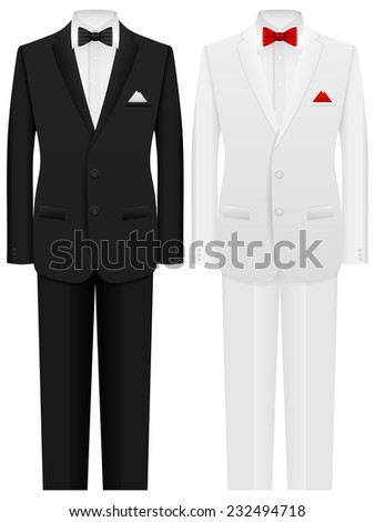 Man formal suit on a white background. - stock vector