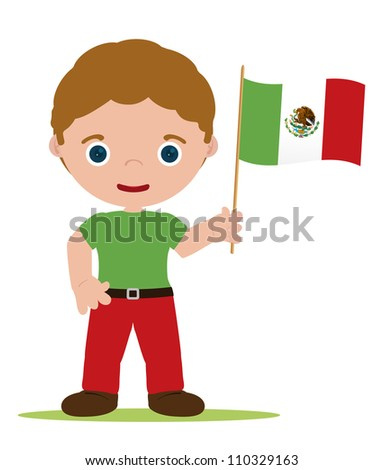 man from mexico with flag