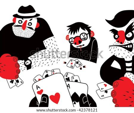 man game poker - stock vector