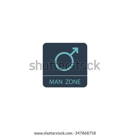 man gender Color vector icon on white background  - stock vector