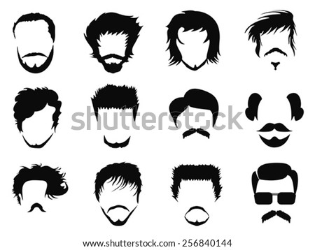 man hairstyle vector - stock vector