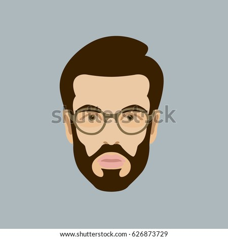 man head face vector illustration stock vector 2018 626873729 rh shutterstock com face vector free download face vector art