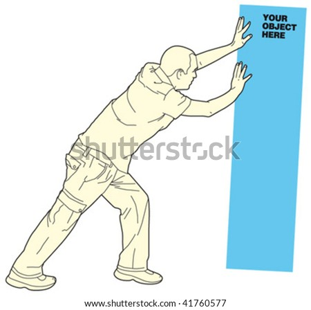 man holding object 4 - stock vector