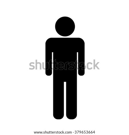 man  icons, toilet sign, restroom icon, pictogram - stock vector