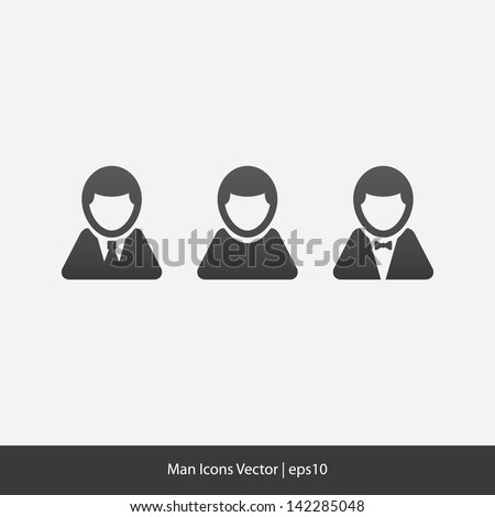 Man Icons Vector - stock vector