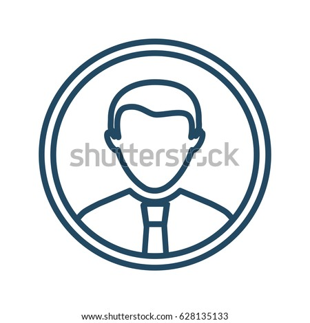 man circle vector icon meaning user stock vector 628135133 rh shutterstock com