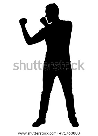 man in boxing stance