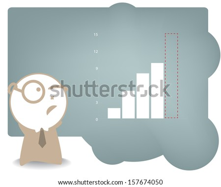 man in business concept - stock vector