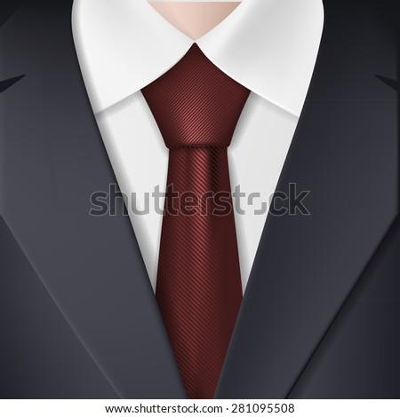 Man in suit and tie. Vector Image. - stock vector