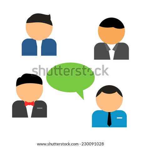Man in suit with thought bubble - stock vector