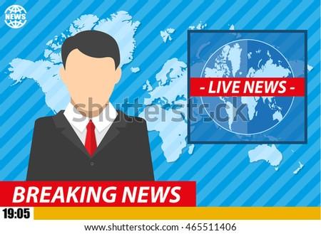Breaking News On Tv Clip Art