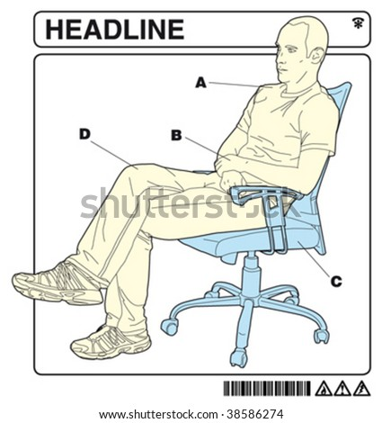 man in the office 2 with instructions - stock vector