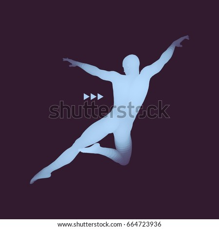 Man Posing Dancing Silhouette Dancer 3d Stock Photo Photo Vector
