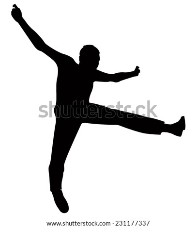Man jumping silhouette