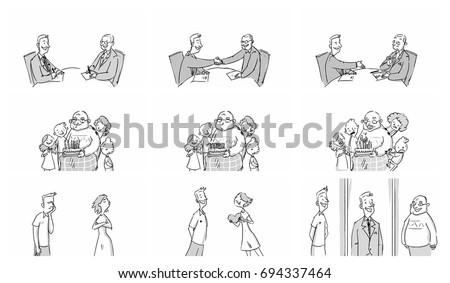cartoon storyboard