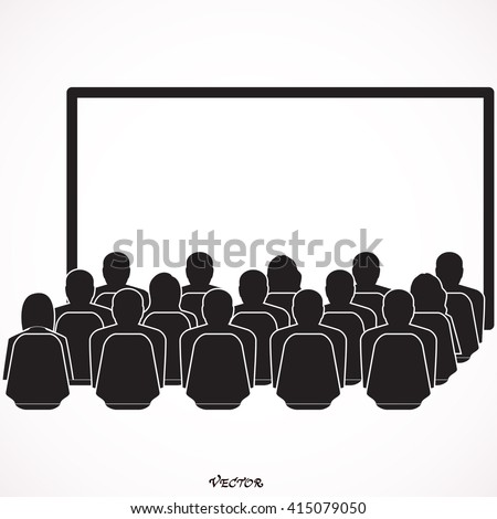 man look at the cinema or movies icon vector, icon vector, cinema hall icon on white background