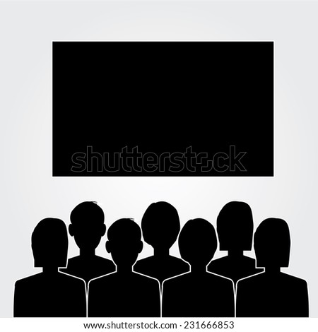 man look at the cinema  or movies icon vector,theater icon vector