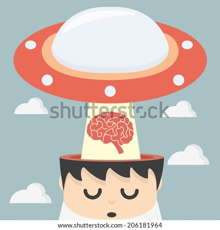 man lose idea - stock vector