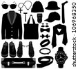 Man Male Clothing Wear Accessories Fashion Design - stock vector