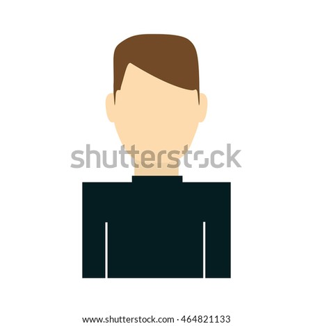 man male person avatar icon. Isolated and flat illustration. Vector graphic