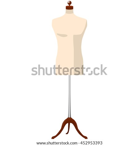 man mannequin dummy tailor isolated vector illustration