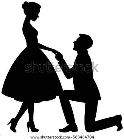 proposal silhouette wedding silhouette stock images royalty free images 2391
