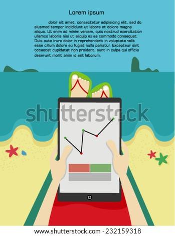 Man On Beach Stock Vectors, Images & Vector Art | Shutterstock