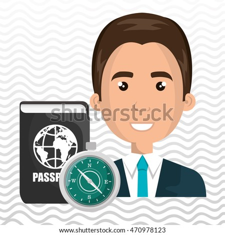 man password id travel vector illustration eps 10