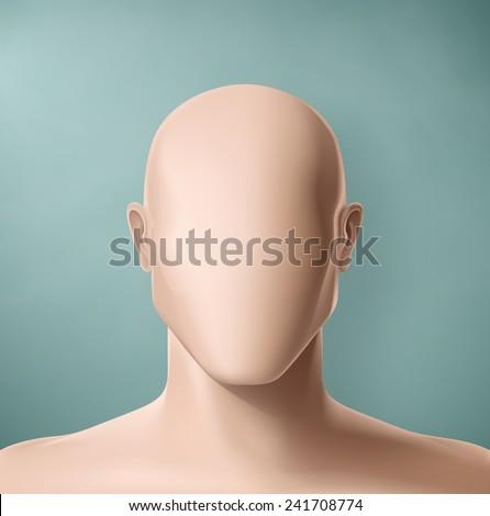 Man portrait, faceless, eps 10 - stock vector