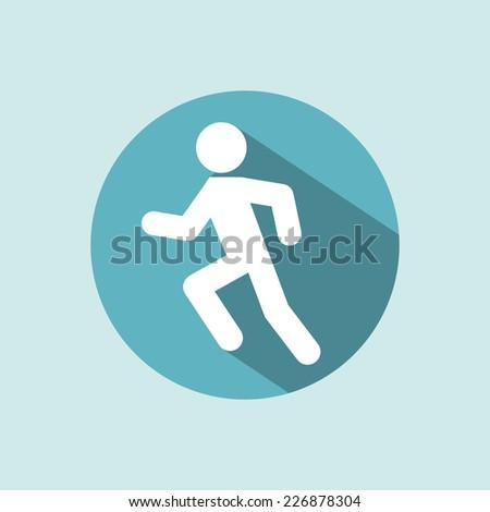 Man running icon. Racing Jogging Running Walking.  - stock vector