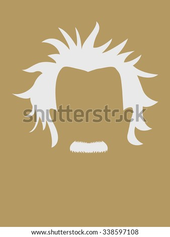 Man's hair and mustache symbol - stock vector