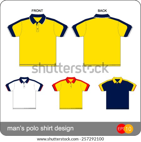 Polo shirt design vector template stock vector 245912515 for Polo shirt design template
