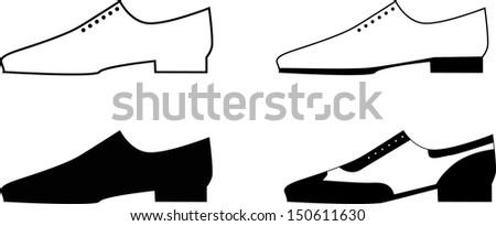 Man shoes. Vector illustration - stock vector