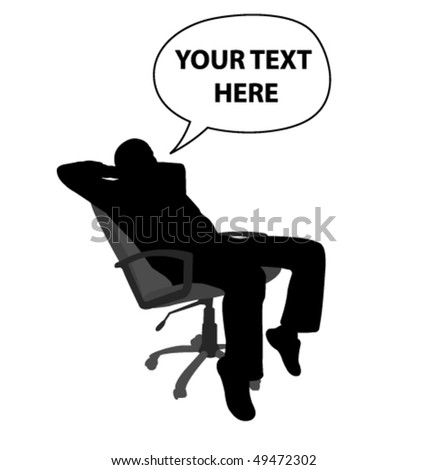 man sitting and relaxing in chair - vector - stock vector
