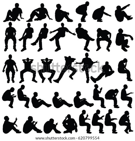 People Sitting Silhouette Stock Images, Royalty-Free Images ...