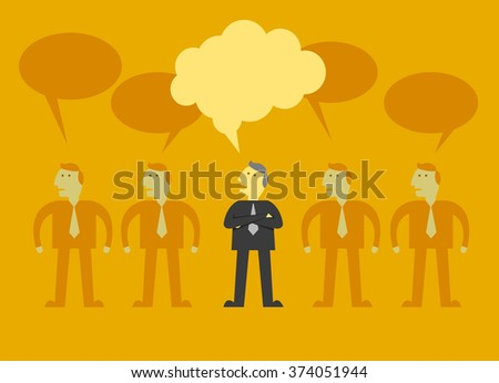 man thinking different - stock vector