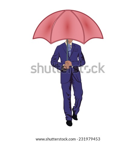 man under the umbrella man under the umbrella