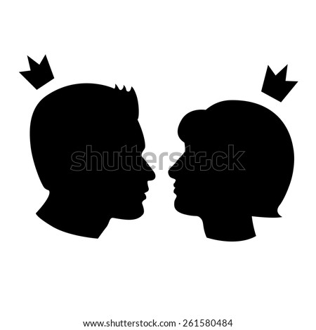 man vs woman girl and boy icons, love and family concept - stock vector