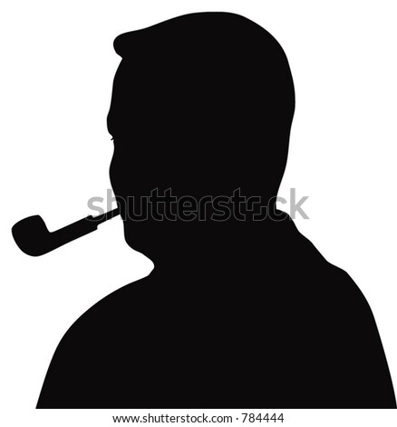 Man with a pipe - stock vector
