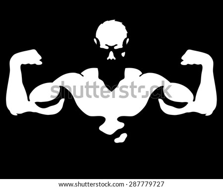 Man with muscles for gym and fitness vector