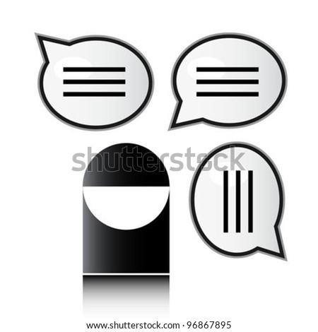 Man with speech bubbles - stock vector