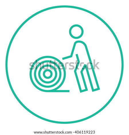Man Wire Spool Line Icon Stock Vector 406119223 - Shutterstock
